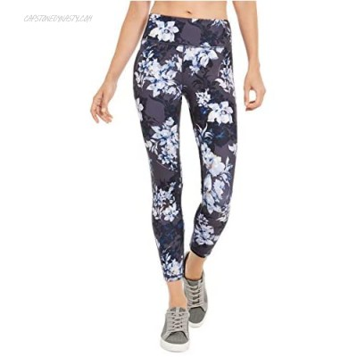 Ideology Womens Floral Print Fitness Athletic Leggings