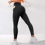 MOOSLOVER Reflective Workout Leggings for Women with Pockets Cross Waist Yoga Pants