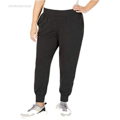 Ideology Plus Size Women's Lace-Up Joggers (Heather Gray 1X)