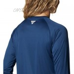 Columbia PFG Women's Tidal Tee II Long Sleeve Shirt Breathable Quick Drying Carbon/Red Spark Logo Large
