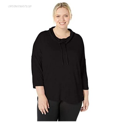 Marc New York Performance Women's Plus Size Cowl Neck 3/4th Sleeve Top