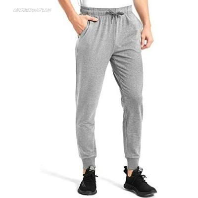 Inno Cotton Joggers for Men Comfy Sweatpants Tapered Active Yoga Lounge Casual Workout Pants with Pockets