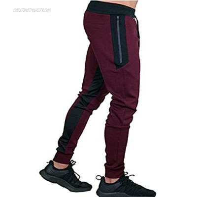 KEFITEVD Men's Sport Pants Gym Workout Athletic Pants Slim Fit Tapered Sweatpants with Pockets
