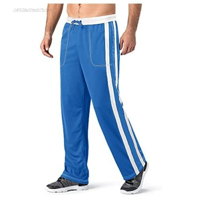 TACVASEN Men's Sweatpants with Pockets Mesh Athletic Workout Jogger Running Pants Striped