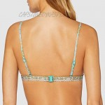 Seafolly Women's Fixed Triangle Bikini Top Swimsuit with Tie Front