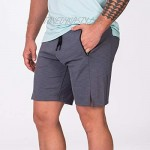 Essential Techno Men's 9 inch Gym Shorts with Zipper Pocket