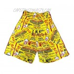 Flow Society Mens Yellow Chinese Take Out Short - Mens Athletic Shorts