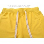 GARMOY Men's Cotton Summer Casual Sport Gym Running Active Sweat Shorts with Pockets