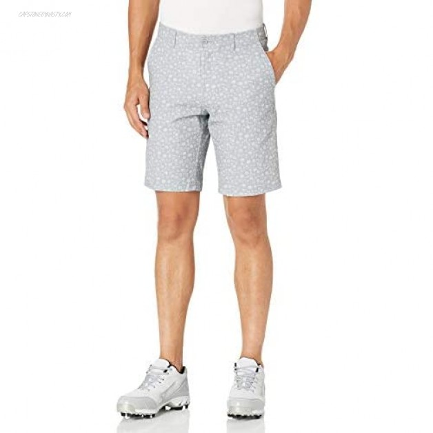 Jack Nicklaus Men's Flat Front Printed Golf Short with Active Waistband