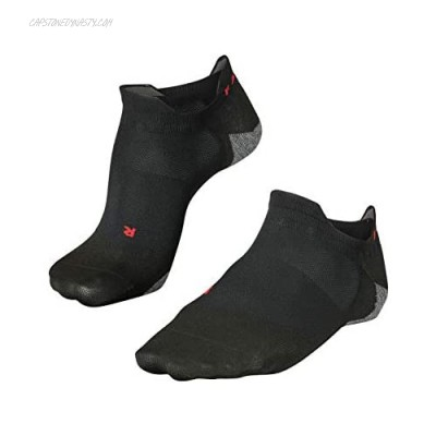 FALKE Mens RU5 Invisible Running Socks - No Show Anti Blister Cushioned In Black or White US sizes 6.5 to 13.5 1 Pair