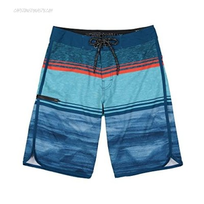 Distortion Mens Board Shorts Long Swim Trunks for Surf and Beach