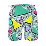 Retro 80S Or 90S Beach Shorts for Men Quick Dry with Mesh Lining and Pockets